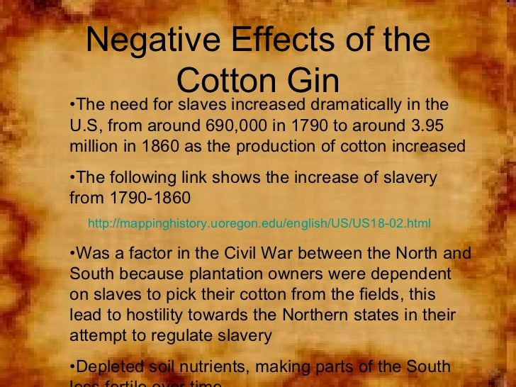 an analysis of birth of the cotton gin Analysis, for creative writing  constance m eli whitney and the birth of american technology the cotton gin cranked cotton through rollers with teeth made.