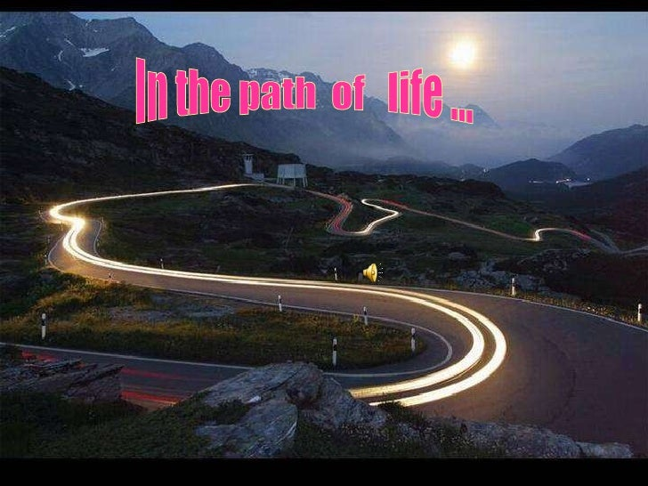 In the path  of  life ...