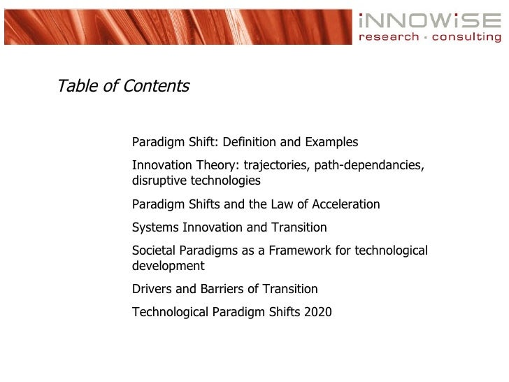 Technological Paradigm Shifts Updated