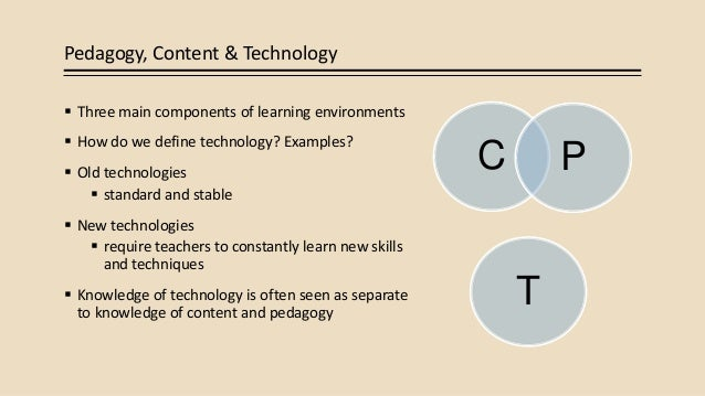 Examples of pedagogical content knowledge.