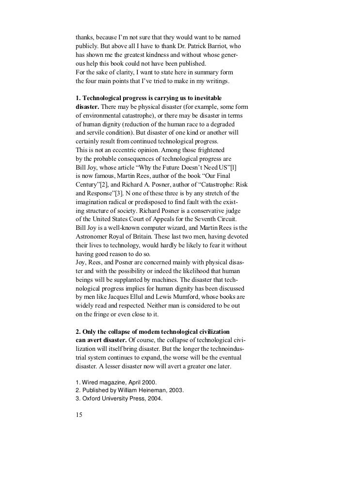 """bill joy wired essay Discussion questions for """"why the future doesn't need us"""" joy, bill why the future doesn't need us, wired 804 (april 2000), accessed 27 march 2012, http://www."""
