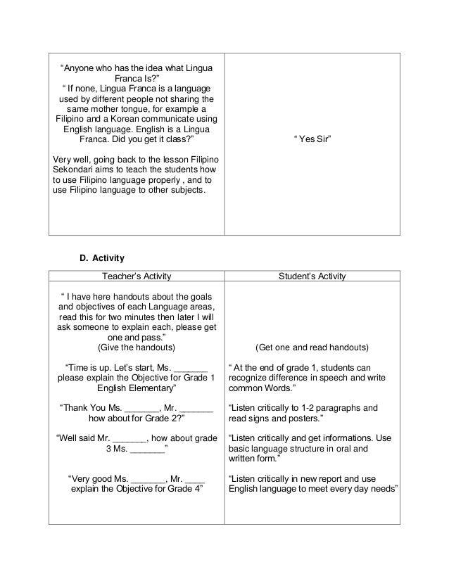 Lesson Plan Sample Design Templates
