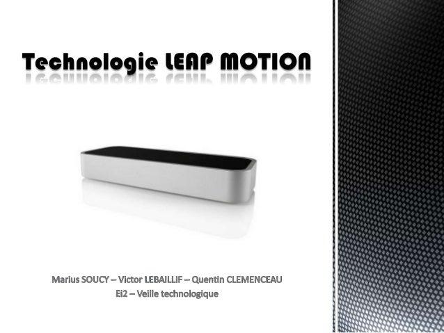Introduction:                        Définition Leap motion                          Tableau mots clés                    ...