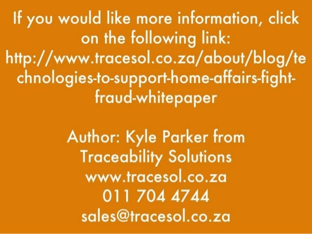 Technologies To Help Home Affairs Fight Fraud