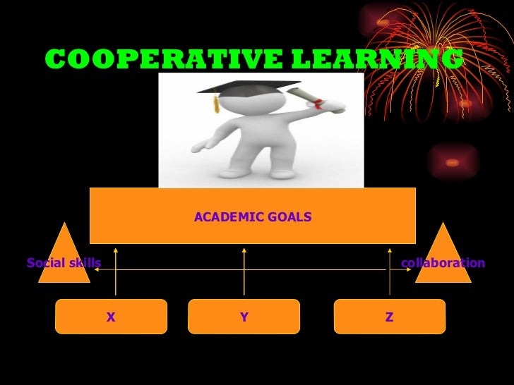 COOPERATIVE LEARNING X Z Y ACADEMIC GOALS collaboration Social skills