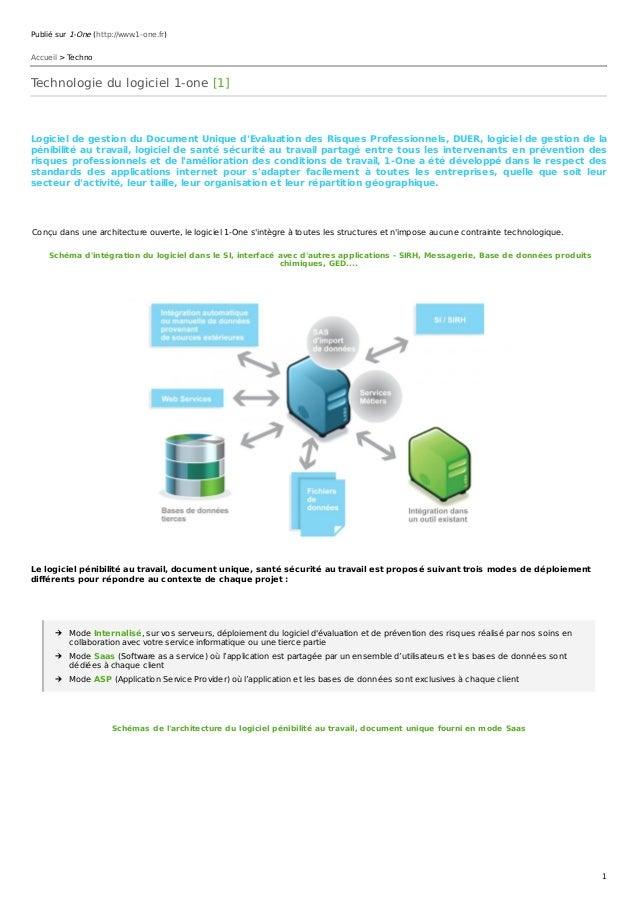 Publié sur 1-One (http://www.1-one.fr) Accueil > Techno Technologie du logiciel 1-one [1] Logiciel de gestion du Document ...