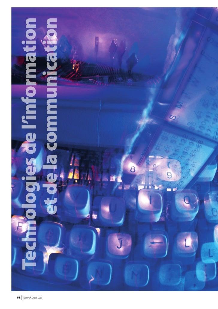 58                    Technologies de l'informationTECHNOLOGIES CLÉS                         et de la communication