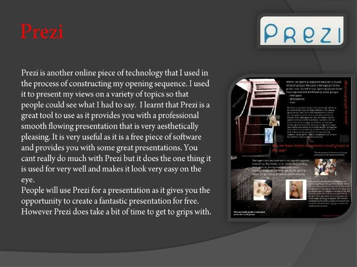 Technologies used within our production