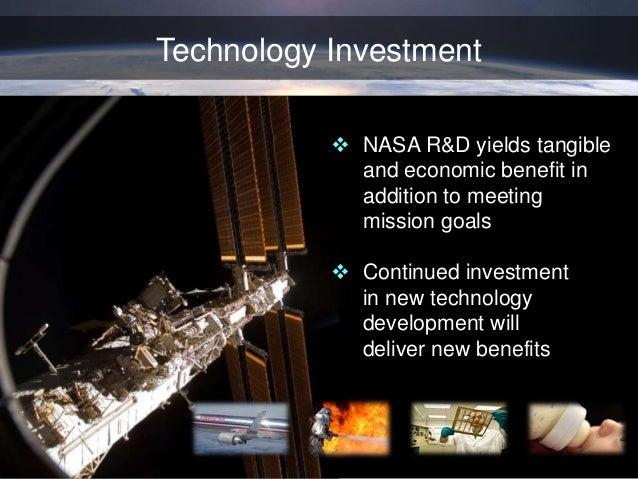 NASA Technology Investments Yield Benefits