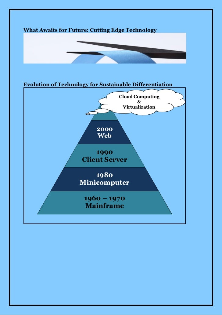 What Awaits for Future: Cutting Edge TechnologyEvolution of Technology for Sustainable Differentiation                    ...