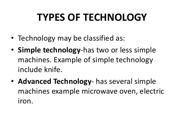 technology simple types