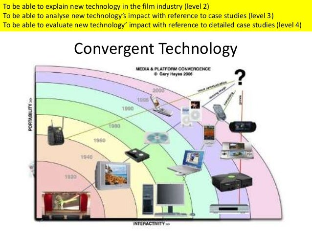 technological convergence Technological convergence is the trend of technologies to merge into new technologies that bring together a myriad of media media convergence: simplifying or spoiling just as cable tv is unbundling, magazines start bundling up.