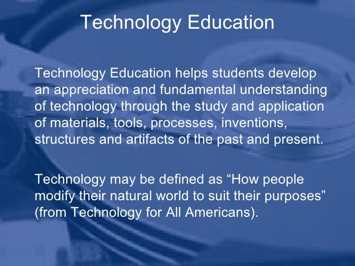 Technology Education Program Introduction Powerpoint Slide 2