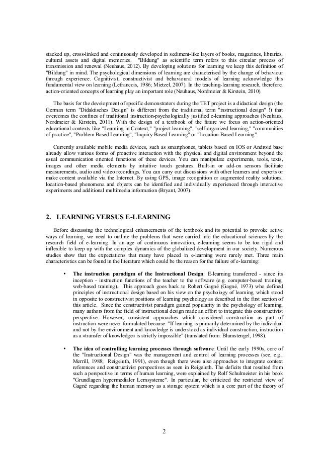 Technology Enhanced Textbook - Provoking active ways of learning Slide 2