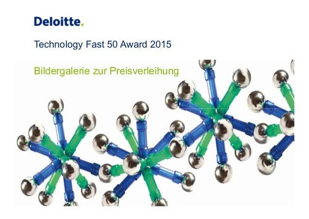Technology Fast 50 Award 2015 Bildergalerie zur Preisverleihung
