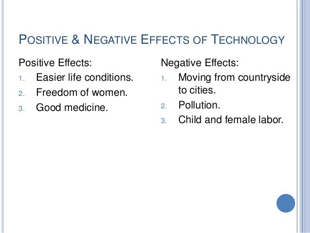 The Four Negative Sides of Technology