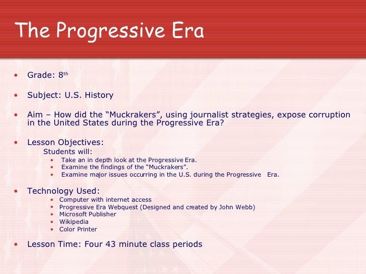 technology lesson plan progressive era