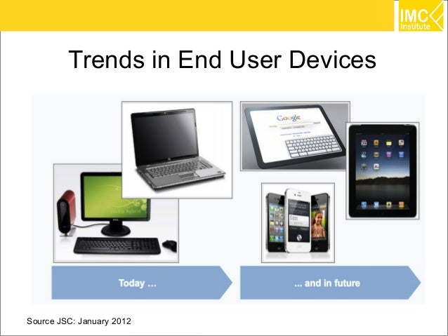 Trends in End User DevicesSource JSC: January 2012              29