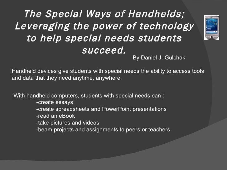 special education 7 essay