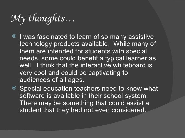 Technology Use in Special Education