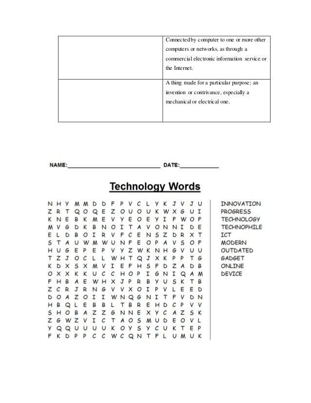 Technology activities final project