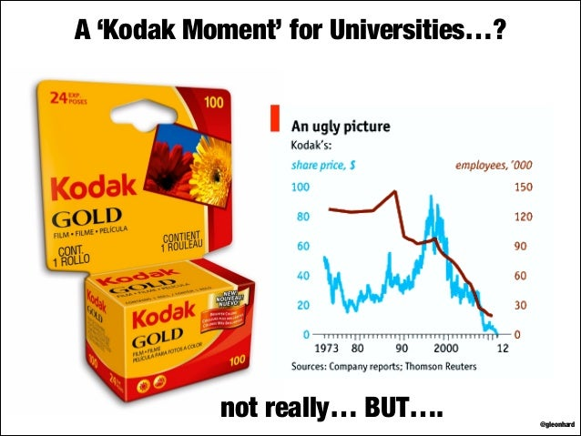 A 'Kodak Moment' for Universities…?  not really… BUT….  @gleonhard