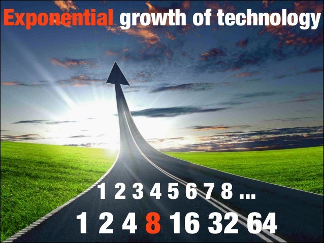Exponential growth of technology  1 2 3 4 5 6 7 8 ...  1 2 4 8 16 32 64