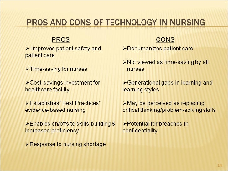 Technology pros and cons essay