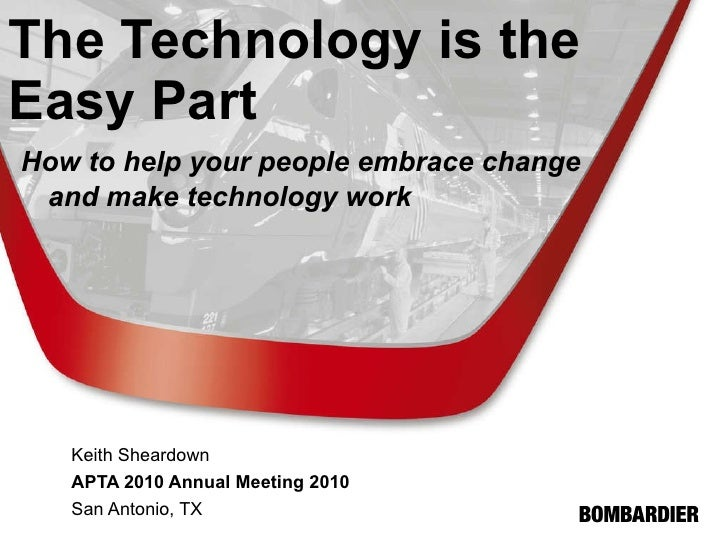 The Technology is the Easy Part     How to help your people embrace change    and make technology work   Keith Sheardown A...