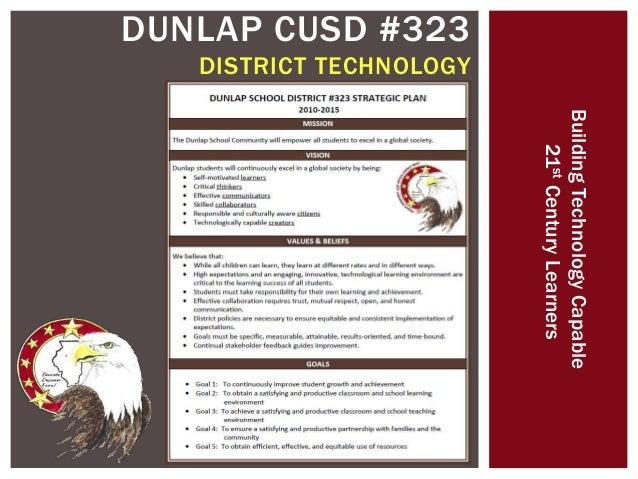 DUNLAP CUSD #323 DISTRICT TECHNOLOGY BuildingTechnologyCapable 21stCenturyLearners