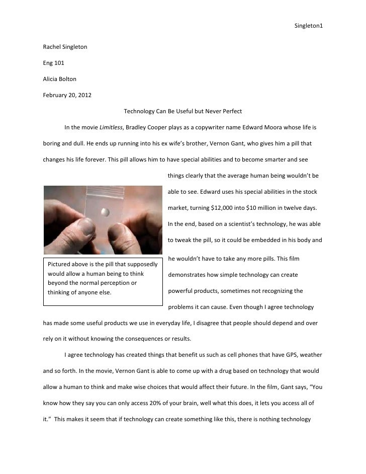 Definition Essay Paper Singletonrachel Singletoneng Alicia Boltonfebruary   The Newspaper Essay also Narrative Essay Examples For High School Technology Can Be Useful But Never Perfect Essay How To Write An Essay Thesis