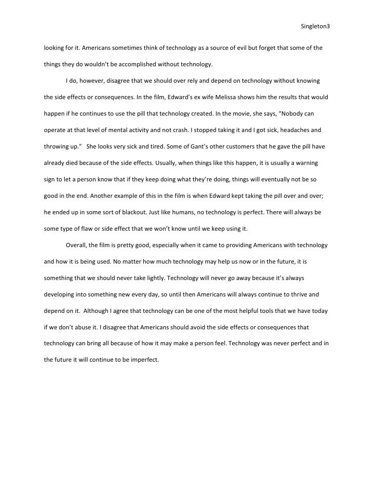 technology can be useful but never perfect essay   3