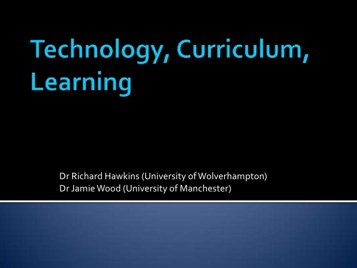 Dr Richard Hawkins (University of Wolverhampton)Dr Jamie Wood (University of Manchester)