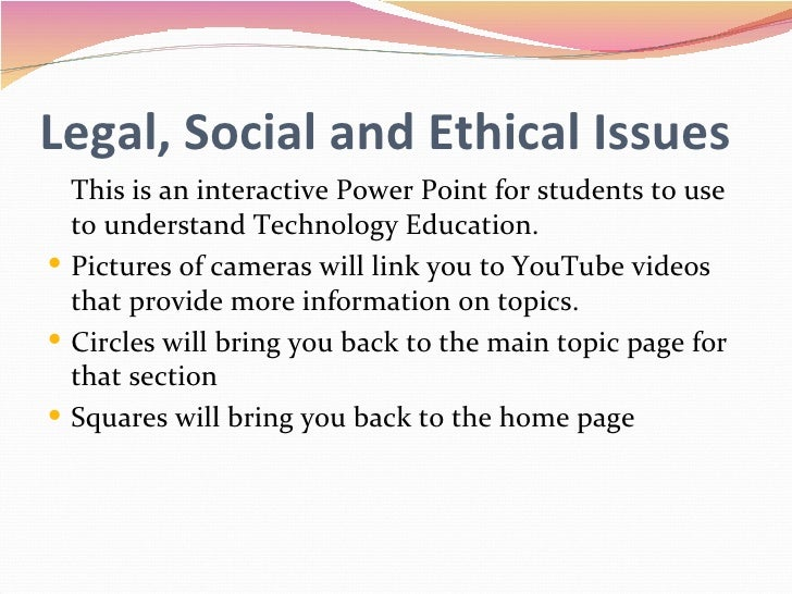 ethical legal and security issues related This section focuses on the basic legal issues that relate to your online activities, and the concrete steps you can take to maintain.