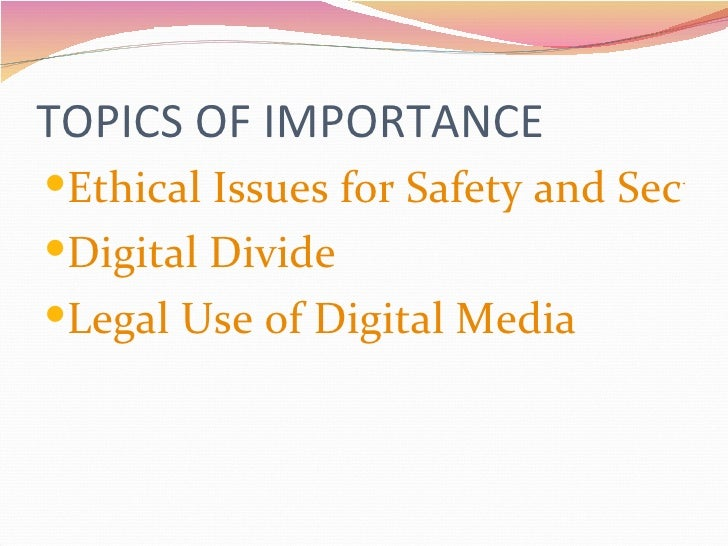 ethical issues in computer technology