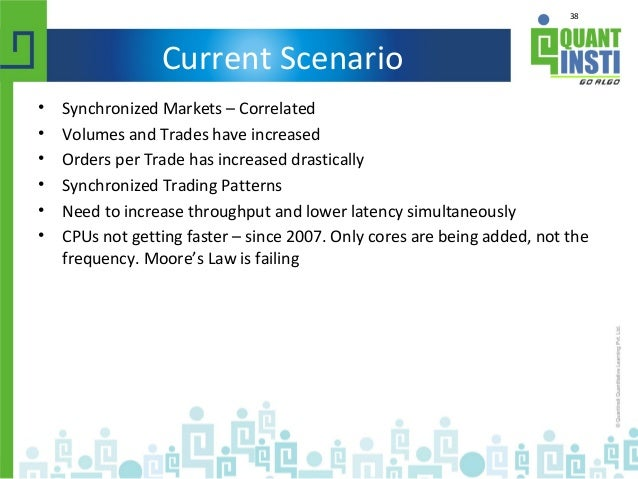 38 Current Scenario • Synchronized Markets – Correlated • Volumes and Trades have increased • Orders per Trade has increas...