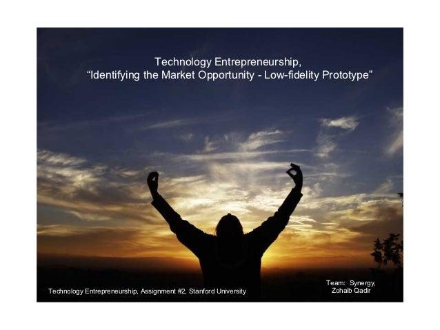 "January 15, 2009                           Technology Entrepreneurship,            ""Identifying the Market Opportunity - L..."