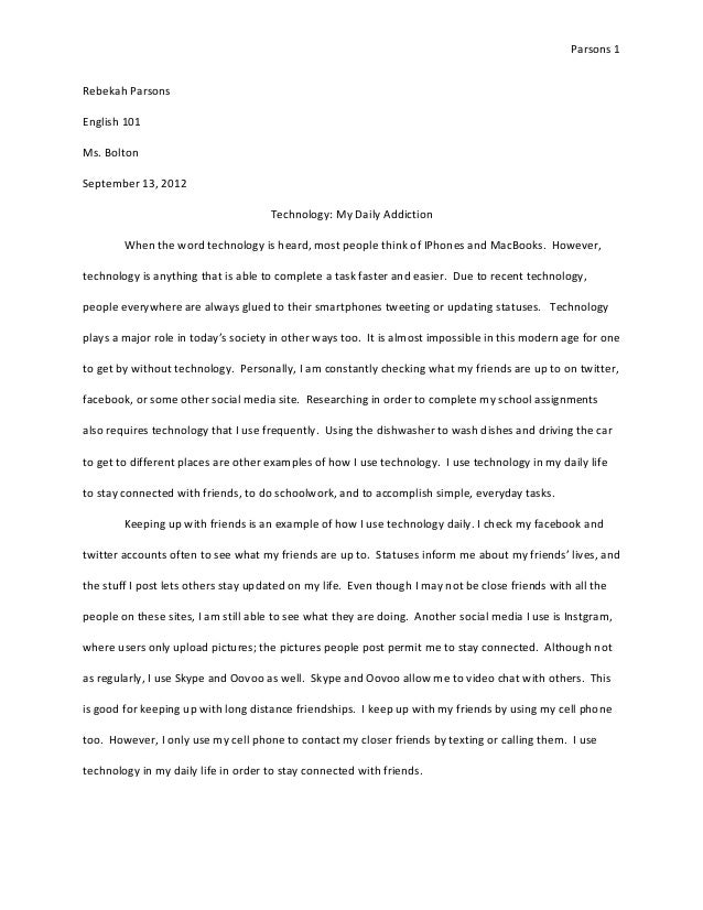 The Benefits Of Learning English Essay Essay Writing On Technology Sample Essay On Communication Strategy  High School Argumentative Essay Examples also The Yellow Wallpaper Essay Topics Sample Essay Technology  Underfontanacountryinncom What Is A Thesis Statement In An Essay Examples