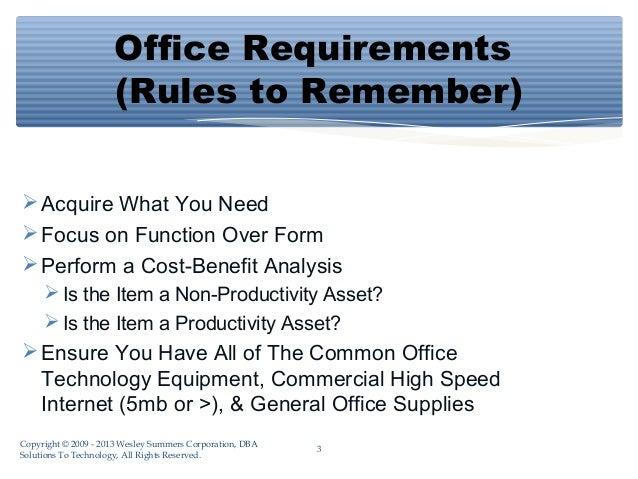 list office equipment