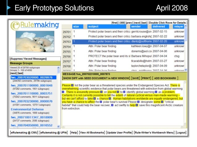 Early Prototype Solutions April 2008