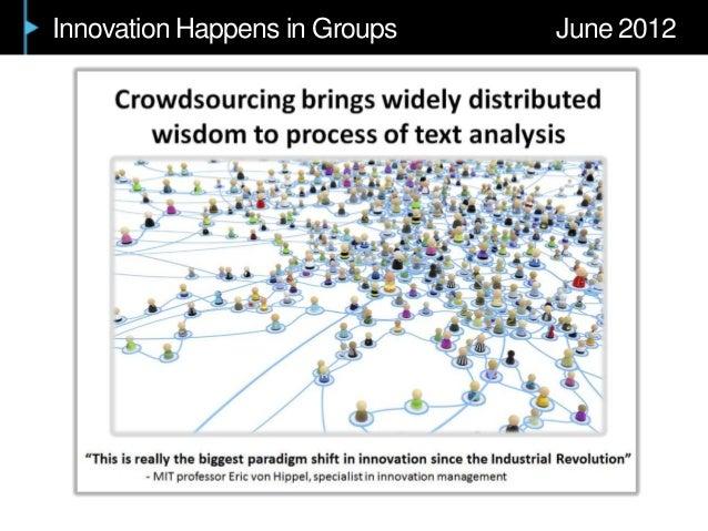 Innovation Happens in Groups June 2012
