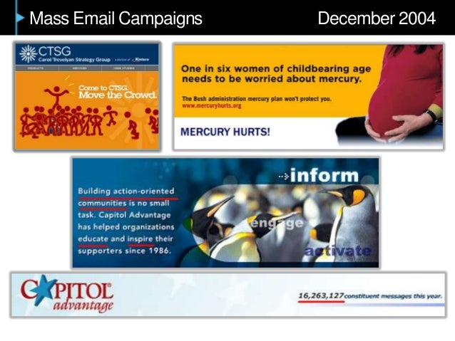 Mass Email Campaigns December 2004