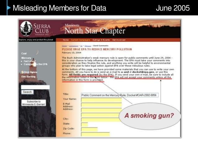 Misleading Members for Data June 2005