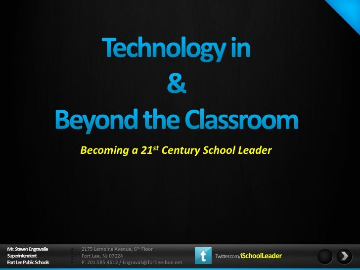 Becoming a 21st Century School Leader2175 Lemoine Avenue, 6th FloorFort Lee, NJ 07024                           Twitter.co...