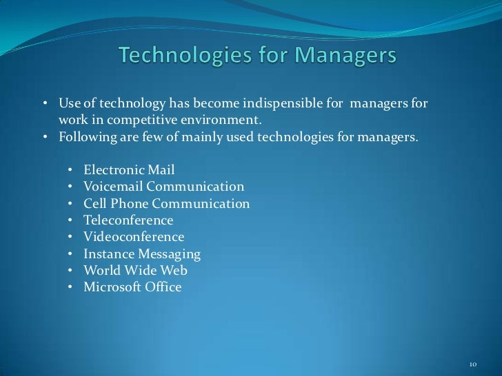 use of technology in business communication Technology in business communications