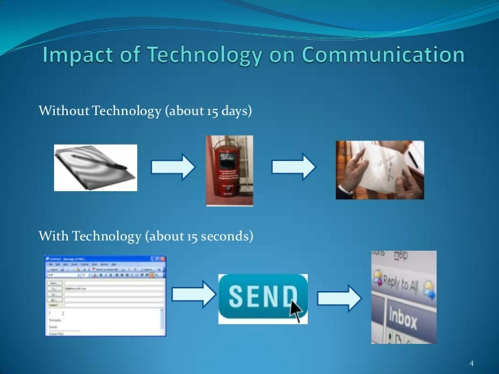 impact of technology communication Information communications technology five ways technology can help the economy here are the five common economic effects of ict 1.