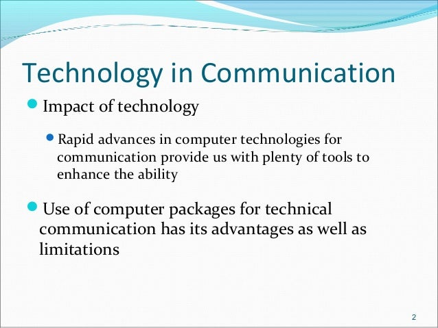 impact of technological advancement on business communication