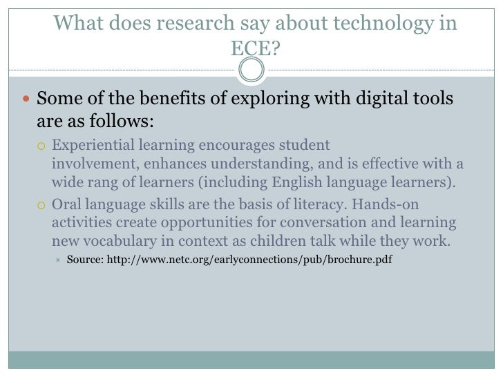 Technology In Early Childhood Education Ece
