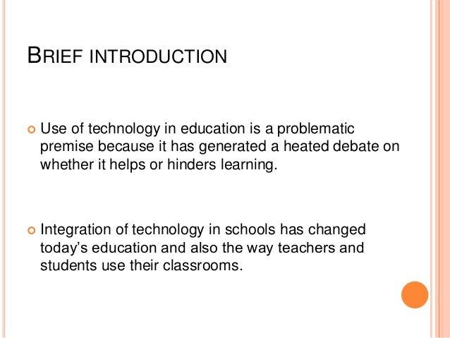Technology in education Slide 2