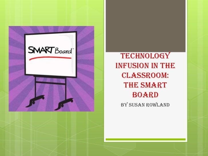 Technology Infusion in the classroom:The SMART Board <br />By Susan Rowland<br />